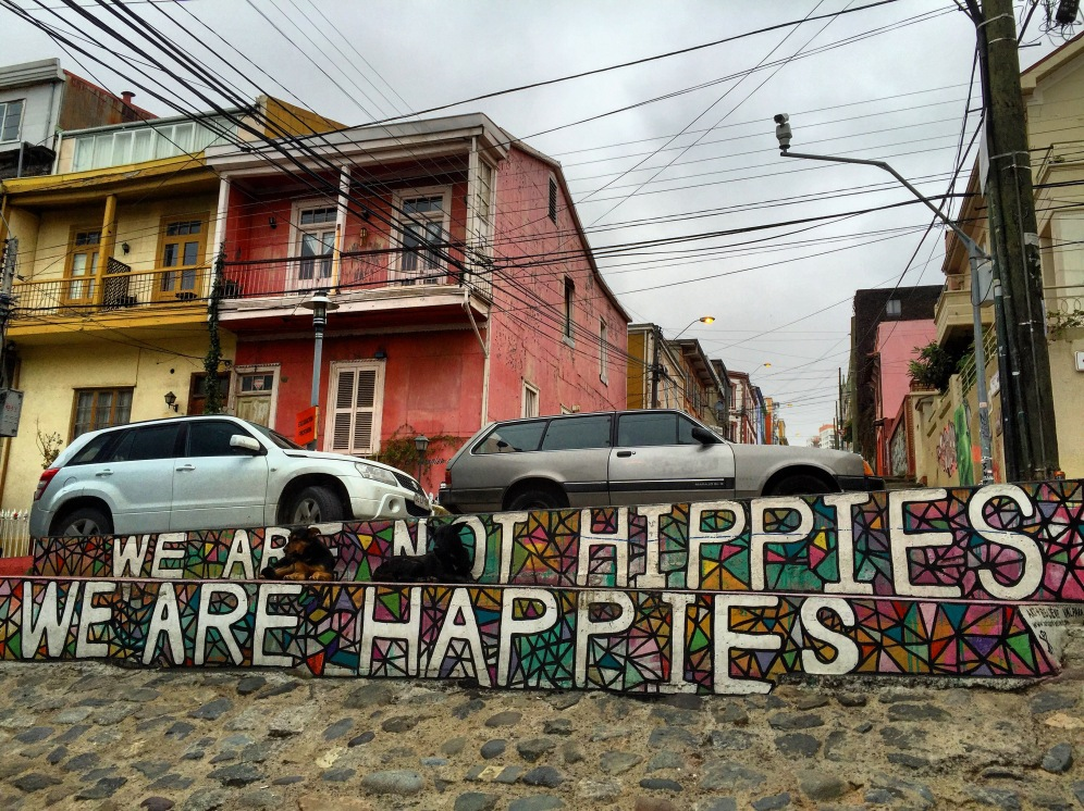 Street art in Valparaiso chile while traveling