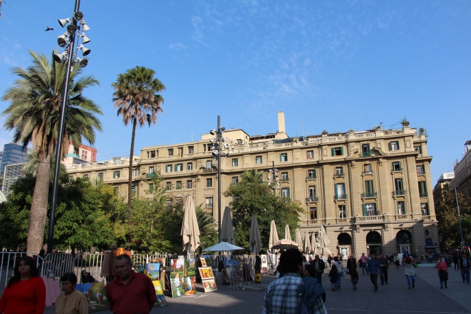 traveling and backpacking in Santiago Chile